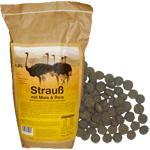 Hundefutter Strauß mit Mais & Reis, 12 Kg