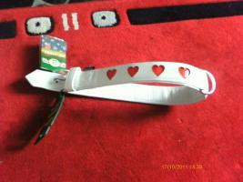 Hundehalsband Art Leather Plus von Karlie Gr. L / XL weiß mit roten Herzen Nagelneu für Ihren Hund
