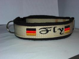 Hundehalsband Namenshalsband WM 2010 indiv. bestickt