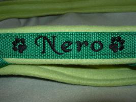Foto 6 Hundehalsband Namenshalsband WM 2010 indiv. bestickt