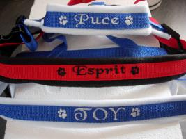 Foto 14 Hundehalsband Namenshalsband WM 2010 indiv. bestickt