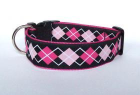 Hundehalsband ''Pink Rhombus XL''