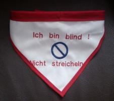 Foto 2 Hundehalstuch Handicap / Blinder Hund/ Tauber Hund