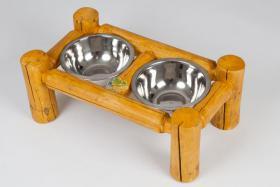 Hundenapfhalter inklusive Näpfe