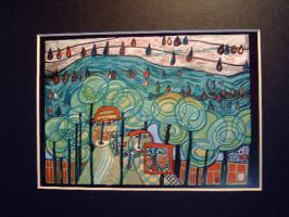 Hundertwasser - THE RAIN FALLS FAR FROM US