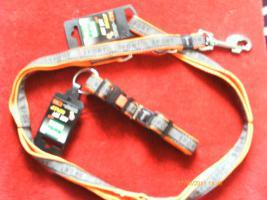 Hundeset Hundeleine + Hundehalsband Nagelneu von Karlie Gr. M Art Joy Plus Reflektiert