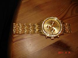 ICE STAR  Herrenarbanduhr ( 18 Karat vergoldet)