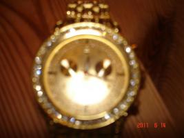 Foto 2 ICE STAR  Herrenarbanduhr ( 18 Karat vergoldet)