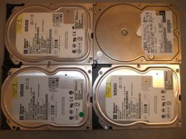 Foto 4 IDE Festplatten 20,40,80 GB