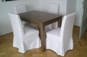 ikea henriksdal st hle 4 st ck wei blekinge wei mit tisch in m nchen von privat. Black Bedroom Furniture Sets. Home Design Ideas