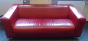 IKEA Klippan Sofa rot Leder wie neu