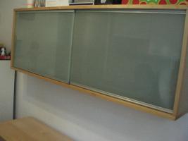 IKEA zweitlg. Buffet (Ober- u. Unterschrank) Rauchglas / Birke
