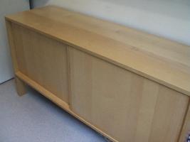 Foto 2 IKEA zweitlg. Buffet (Ober- u. Unterschrank) Rauchglas / Birke