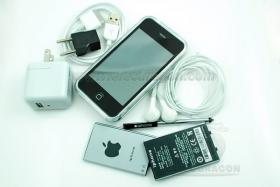 IPHONE CLONE 3GS-3 2G WIFI Kompass Schwarz