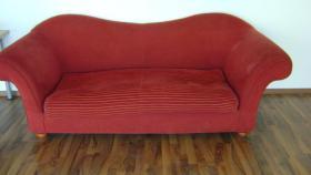 Ich verschenke hochwertige schöne rote Couch