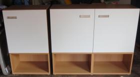 Ikea Aufbewahrungsmöbel Besta und Bücherregal mit 6 Einlegeböden