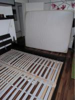 Foto 2 Ikea-Bett Malm,  (1,60 x 2,00)m, braun mit allem drum und dran