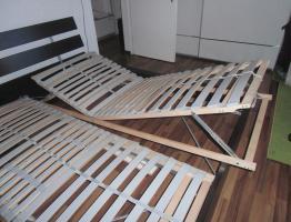 Foto 4 Ikea-Bett Malm,  (1,60 x 2,00)m, braun mit allem drum und dran