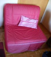 ikea bettsessel lycksele in rot in m hlacker von privat sofa couch. Black Bedroom Furniture Sets. Home Design Ideas