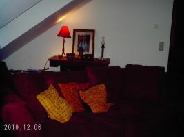 Foto 2 Ikea-Sofa, rot, Bezug abziehbar, L 2,15m/H 0,76m/ T 0,78m an Selbstabh. f. 150,00 € abzugeben
