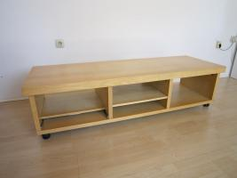 ikea tv board ahorn tv phono lowboard in krefeld lowboard. Black Bedroom Furniture Sets. Home Design Ideas