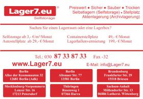 Foto 7 In Berlin und Umgebung Lagerräume, Lagerhalle, Selfstorage, Pkw-Stellplatz