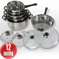 Induktions Topfset - Pfanne NEU 12 -tlg. KOSTENLOSER VERSAND