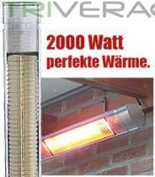 Infrarot Heizstrahler GardenStar 2000 IP65. Ideal als Terrassenstrahler.