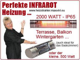 Foto 2 Infrarot Terrassen Heizstrahler der Serie Heizmeister - neu -
