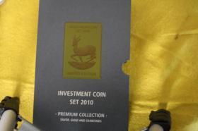 Investment Coin Set 2010 mit Silber, Gold, Diamanten