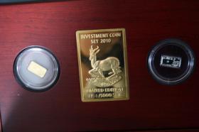 Foto 2 Investment Coin Set 2010 mit Silber, Gold, Diamanten