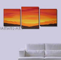 Isola - 3 Acryl-Bilder -50x130cm Landschaft Deko Bilder