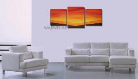 Foto 2 Isola - 3 Acryl-Bilder -50x130cm Landschaft Deko Bilder