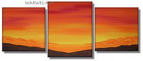 Foto 3 Isola - 3 Acryl-Bilder -50x130cm Landschaft Deko Bilder