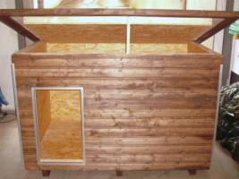 isolierte hundeh tte xxl mit fu bodenheizung in ennepetal. Black Bedroom Furniture Sets. Home Design Ideas