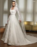 Foto 3 Italienisches Promesa A Linie Brautkleid Hochzeitskleid in Gr.34-58
