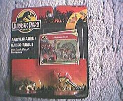 JURASSIC PARK Figuren aus d. DIE-CAST-METAL-Serie (1993) - orig.verp. auf Blisterkarte
