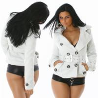 Jacke Damenjacke Strickjacke Kurz Mantel