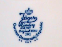 Foto 2 Jäger Eisenberg Tafelset, Original Blau Sams