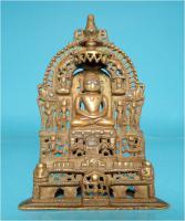 Jaina-Altar, Messingschreine, Hausaltar, Tirthankara Pärsva, Jain-Religion, Indien, Gelbguss, Skulptur, Jainismus,1627