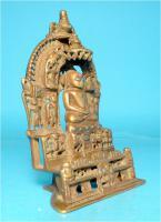 Foto 5 Jaina-Altar, Messingschreine, Hausaltar, Tirthankara Pärsva, Jain-Religion, Indien, Gelbguss, Skulptur, Jainismus,1627