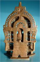 Foto 6 Jaina-Altar, Messingschreine, Hausaltar, Tirthankara Pärsva, Jain-Religion, Indien, Gelbguss, Skulptur, Jainismus,1627