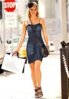 Jeans-Cosagenkleid, blau