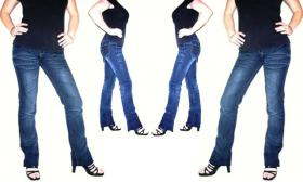 Jeans Hose R�hre Lowcut sexy Knackpo S / M 38