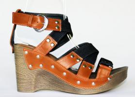 Foto 2 Jeans Sandaletten mit Keilabsatz