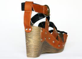 Foto 4 Jeans Sandaletten mit Keilabsatz