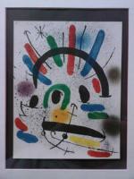 Joan Miró: Original-Farblithographie, gerahmt