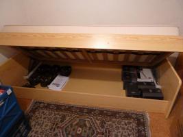 Foto 2 Jugendbett Kiefernachbildung 1 x 2 m mit Bettkasten