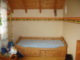 Jugendbett  kostenlos 90x200cm mit 3 Schubladen Kiefer