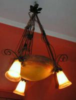 Jugendstillampe Art Nouveau Lampe